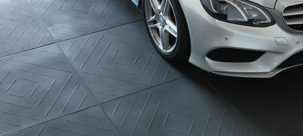 Garagenplatte-Anwendung