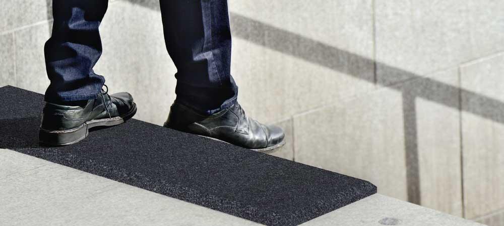 Treppenstufenauflage-Anwendung